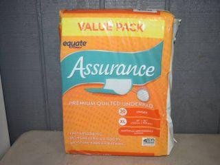 30 Assurance Premium Quilted Underpads Hospital Chucks