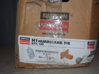 100 Simpson H1 Hurricane Ties