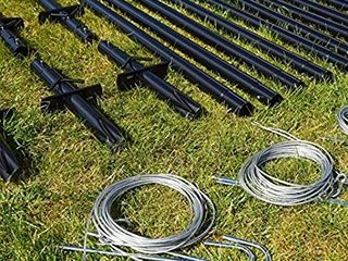 4 Pack Poles Net World Sports Fortress Ultimate Batting Cage   Black
