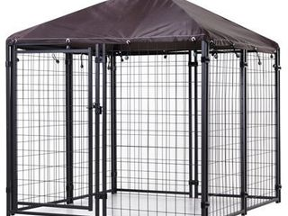 PawHut large lockable Outdoor Dog House Kennel with Water Resistant Roof   55  x 55  x 60