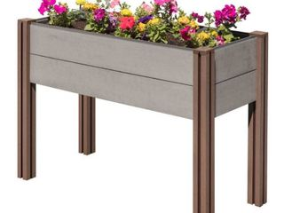 Stratco Elevated Garden Bed   Gray
