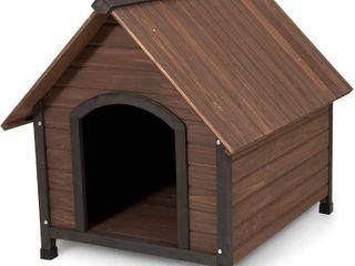 Aspen Pet Ruff Hauz Peak Roof Wood Doghouse for 50 90 Pound Dog