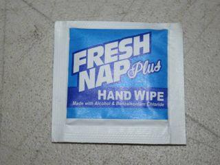 250 Fresh Nap Plus Individually Wrapped Hand Sanitizer Wipes