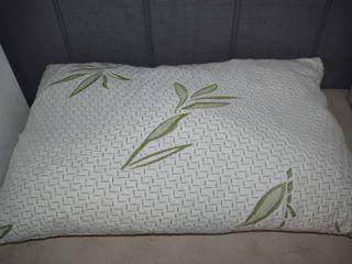Bamboo living Queen Size Bamboo Pillow   Shredded Memory Foam