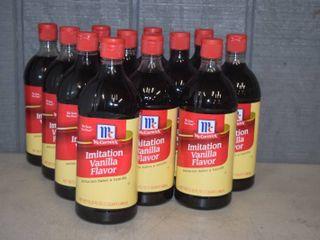 12 Bottles McCormick Imitation Vanilla Flavor   32 ounce   Expires 7 8 2024