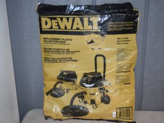 Dewalt Replacement Plastic Collection Bags 5 Pack