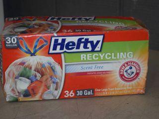 36 Count Box Hefty 30 Gallon Trash Bags