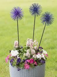 Set of 3 Gardener s Supply Metal Everbloomin  Alliums Yard Decor