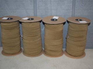 4 Spools 1 8  Elastic Cord   Color is Coyote