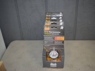 6 Taylor Grill Thermometers Model 805NA