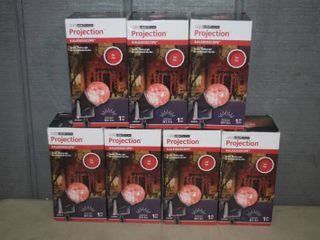 7 lED light Show Projection Kaleidoscope   Red