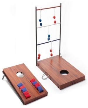 Sport Squad 2 in 1 Indoor Outdoor Cornhole and ladder Toss Game Set