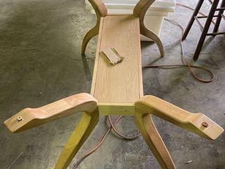 light Wood Table Base 29 5a W 51al 29a H