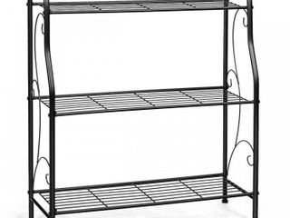 3 Tier Scrollwork Designed Metal Plant Stand