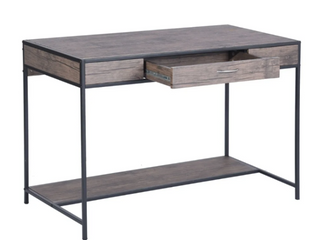 Grey   Powder Coated  Carbon loft Searz Rustic 1 Drawer Computer Writing Desk  Retail 157 99