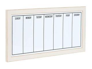 Black framed Magnetic Weekly Calendar Dry Erase Board