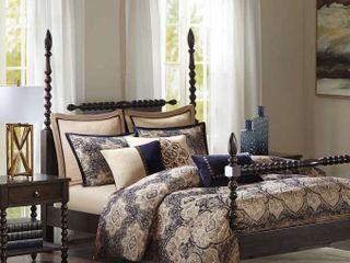 Wellington King Blue Comforter Set By Madison Park Signature   354 99