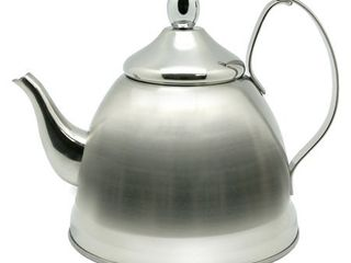Creative Home Nobili Tea 1 qt  Silver Stainless Steel Tea Kettle with Tea Infuser