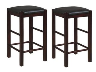 Speakeasy Backless 25 inch Counter Stools  Set of 2   Espresso
