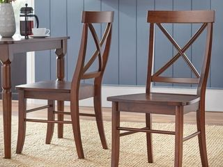 Simple living Albury Cross Back Dining Set MISSING ONE SEAT