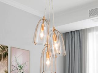Set of 2   Modern 3 lights Glam Gold Mini Pendant lighting for Kitchen Island  Dining Room   D10 6 x H106   193 99 Retail