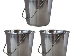 Xlarge Stainless Steel Bucket Set  PK3