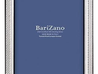 BARIZANO Tarnish Proof 925 Sterling 8x10 Picture Frame  Silver