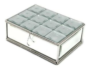 Elegance Multi Faceted Mirrored Jewelry Box
