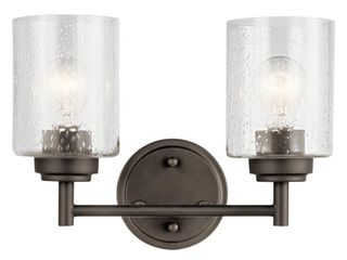 Kichler 45885OZ Winslow Collection Wall Mount Bath 2 light  Olde Bronze   9 25 in