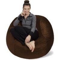 4 foot Bean Bag Chair large Memory Foam Bean Bag COVER ONlY