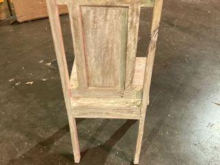 Wood Dining Chair  Cream