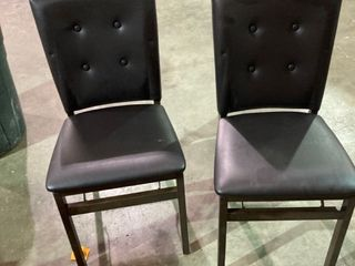 Brown Foldable Chairs   Set of 2