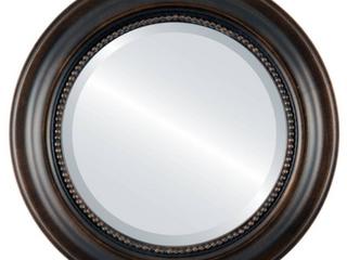 Heritage Framed Round Mirror in Rubbed Bronze   Antique Bronze   139 99 Retail