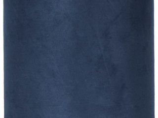 Classic Drum Suede lamp Shade  Navy Blue  7a