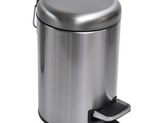 Evideco Soft Close Small Round Bathroom Floor 0 8 Gallon Step On Trash Can