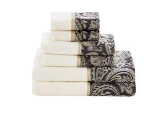 Home Essence Charlotte 6 Piece Jacquard Cotton Bath Towel Set