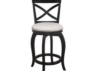 Hillsdale Furniture Ellendale Swivel Counter Height Stool in Black