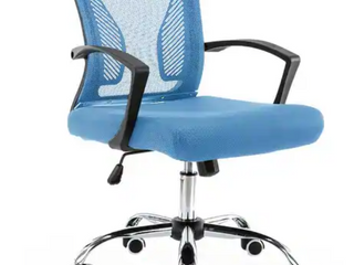 Modern Home Zuna Mid back Office Chair   Black Blue   104 99 Retail