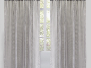 Six Pack of Rodeo Home Rod Pocket Zone Solid Net Sheer Curtain Panels  Set of 2 per pack    54  x 96    54  x 96    Silver
