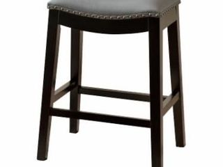 Abbyson living Mia Bonded leather Saddle 26 in  Counter Stool