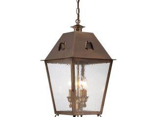 Minka lavery 72425 212 4 light Edenshire Chain Hung Pendant  English Brass Finish
