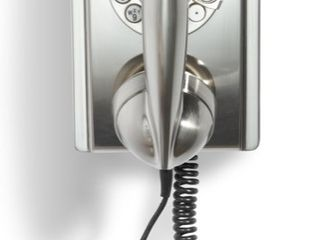 Crosley   CR55 BC Corded 302 Wall Phone   Silver