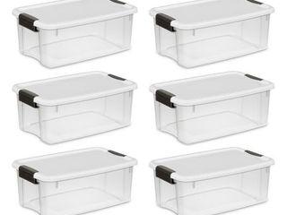Case of 6 Sterilite 18 Quart Ultra latch Boxes
