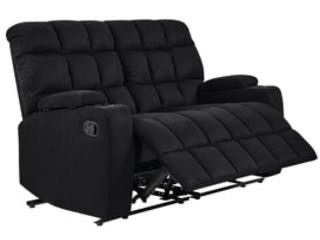 Copper Grove Bielefeld Microfiber 2 seat Recliner loveseat   2 Seat   2 Seat  Black ONlY HAlF OF SECTION