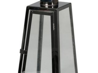As Is   Rebecca 15  Modern Outdoor Stainless Steel lantern  Black