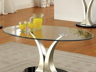 Furniture of America Wuct Modern Grey Metal Pedestal Coffee Table  BASE AND POST ONlY