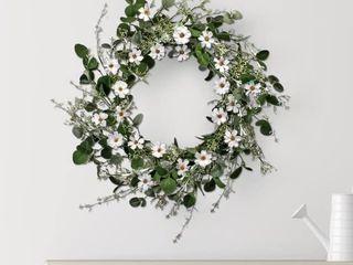 Daisy   Honeysuckle Wreath 26
