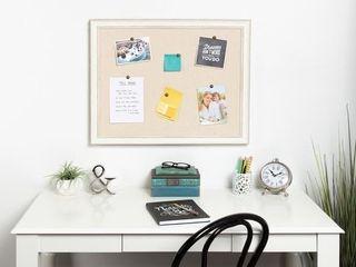 DesignOvation Macon Framed linen Fabric Pinboard