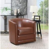 Copper Grove Domenic Contemporary Swivel Chair A FEW MARKS ON FABRIC