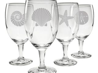 Chabot 16 oz  Glass Goblet  Set of 4
